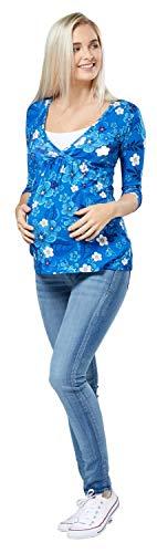 Happy Mama Femme. Top de maternité. T-Shirt d'allaitement Effet Cache-Coeur. ...