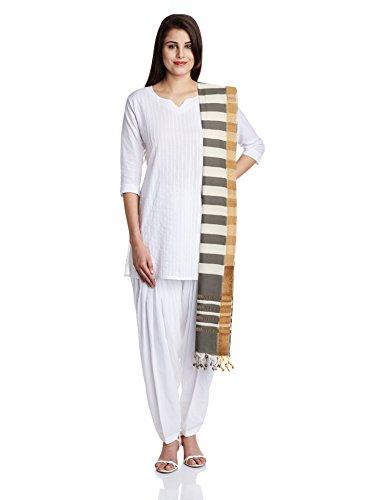 Indusdiva Pure Cotton Mangalgiri Handloom Dupatta