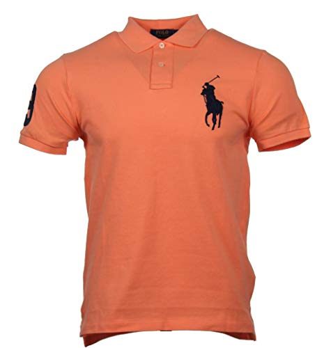 Ralph Lauren Custom Slim Fit Polo - Big Pony - Orange (Orange, M)