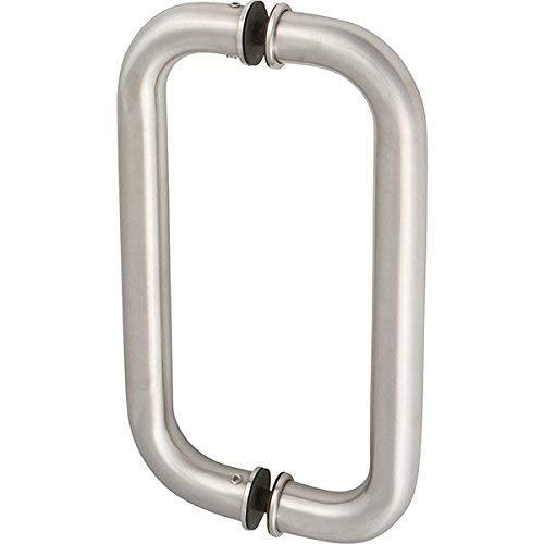 Edelstahl-select Türen (Rockwell 25,4cm Inline Rückseite an Rückseite gehärtetem Glas Halterung Commercial Swing Tür Pull Griff in gebürstetem Edelstahl, langlebig und kommerzielle Wohn-, Tür Hardware, Tür Griffe, Schlösser)