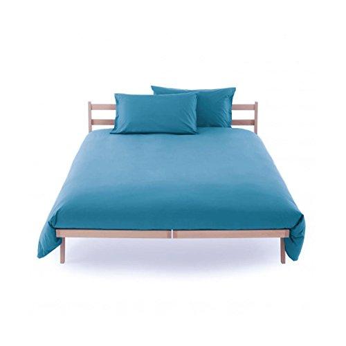 Sacco copripiumino sacca vestifacile letto singolo una piazza zucchi clic clac misura 155 x 200 100% puro percalle di cotone caraibico