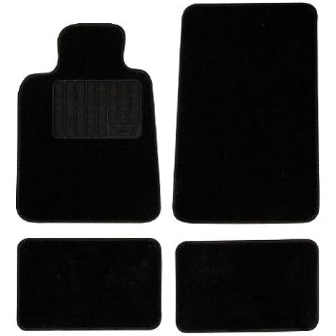 Sumex Matmoq5 - Alfombra Moqueta 450G Negra, 4 Piezas, Modelo 5