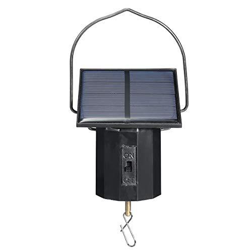 Tutoy 0,35W 1.6V Solar Powered System Whirligig Wind Spinner Motor Wirl Swirl Outdoor Hanging Ornament - Wind-spinner-motoren