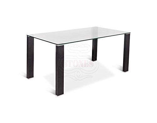 Stones - Slash tavolo con gambe rivestite in cuoio