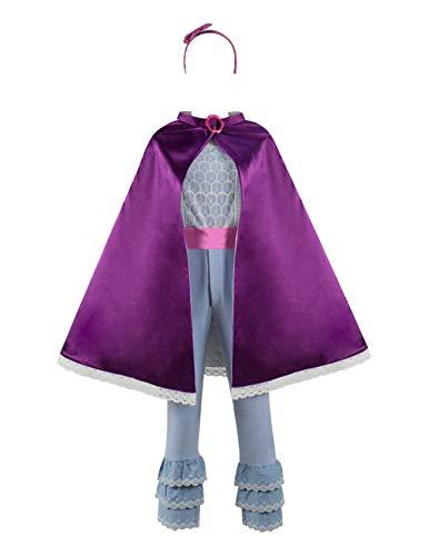 Kostüm Bo Peep Zubehör - IDEALcos Kinder BO Peep Cosplay Kostüm Cape Anzug (Kids-6, Gestrickt, Satin und Spitze)