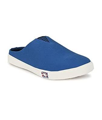 SHOE DAY Men's Slip ON Sneakers Blue