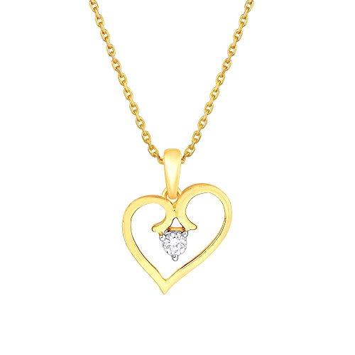 Giantti 14carats Diamant pour femme Collier Pendentif cœur (0.098CT, VS/Si-clarity, Gh-colour)