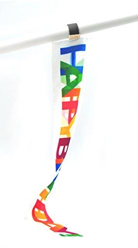 5er-Set Happy Birthday miniflag | kleine mini-Fahne | Geschenk Bastel Spaß Party Sport und Deko-Fähnchen für Geburtstagsfeier, Events und Präsente |