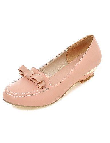 ShangYi Scarpe Donna - Mocassini - Casual - Zeppe - Zeppa - Finta pelle - Rosa / Bianco / Beige Pink