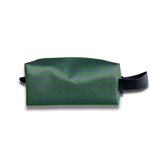 4 blau und grün plaid_19583 tragbare Reise Make-up Kosmetiktaschen Veranstalter Multifunktions Tasche Taschen für Unisex - Blaue Rustikale Kommode