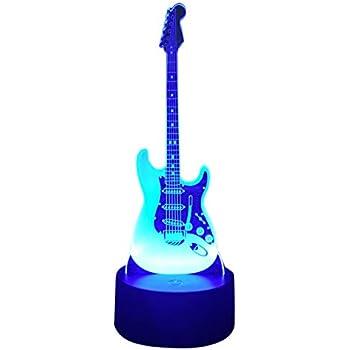 Lumière Nuit Guitare 3d Cadeau Illusion Lampe De D'anniversaire b76fyg