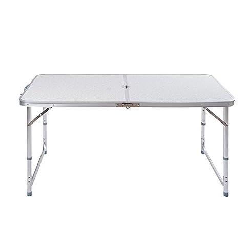 ectxo Table de camping en aluminium Roll Table pliante table de fête Buffet table pliante 120x 60x 70cm