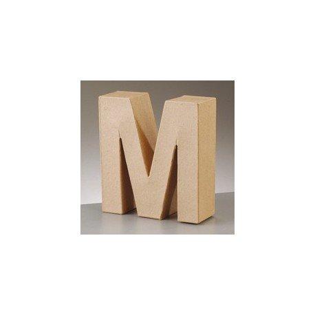 Buchstabe Zeichen Alphabet aus Pappmaché 17,5cm, Charakter 3D PAPPE wählbar, M (3d Alphabet Buchstaben)