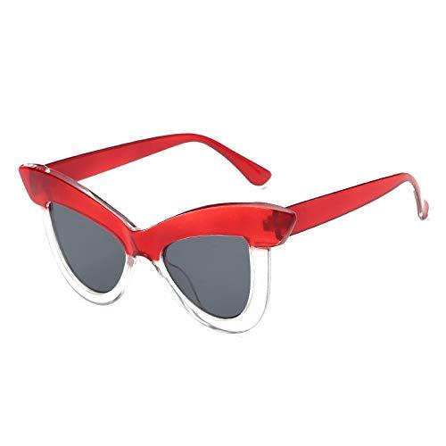 YUHANGH Vintage Cat Eye Sonnenbrillen Frauen Persönlichkeit Übertrieben Damen Brille Lunette Femme
