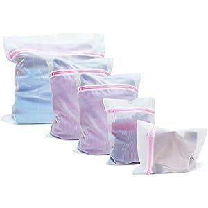 TIMING Waschbeutel für Waschmaschine - Wäschesack mit Reißverschluss - Reise-Wäschenetze - Wäschebeutel (5 Pack)