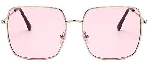 Sonnenbrille Die Neue Quadratische Rahmen Vintage Sonnenbrille Frauen Übergroße Große Sonnenbrillen Für Männer Weibliche Farbtöne Schwarz Uv400 Brille Silber Rosa