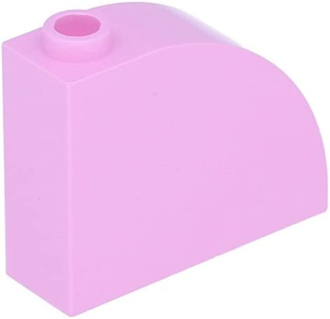Lego 10 x Brick, Modified 3 1 x 3 Modified x 2   Curved Top Bright Pink B01NC29WBP ccde01