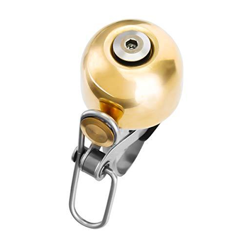 SGODDE Fahrradklingel Laut, Vintage Design Fahrradglocke Radfahren Fahrrad für Alle Fahrrad 2 Farben, Lenker Alarm Horn Ring 22.2-24mm (Gold)