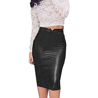 Lavany Faux Leather Mini Skirt Women Slim High Waist Bodycon Pencil Skirt For Girl