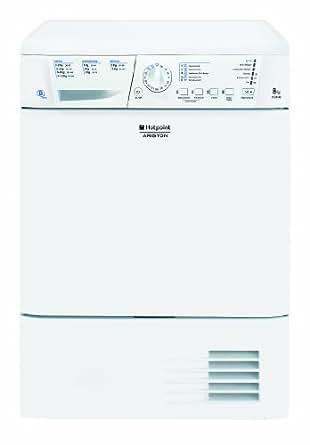 Hotpoint-Ariston TCLG31XB Sèche Linge à Condensation Pose Libre 59,5 cm 8 Kg Electronique par Sonde B Blanc