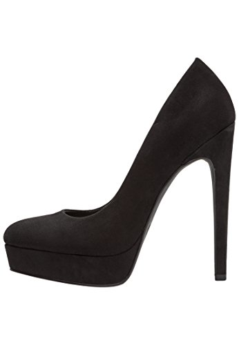 Even&Odd Plateau-Pumps Damen Schwarz – High Heels mit 13 cm Stiletto, 39 (High Heel-schuhe Braune)