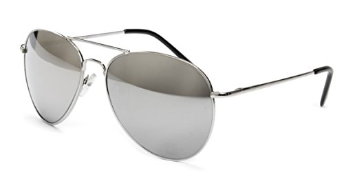 Premium Edel Pilotenbrille Fliegerbrille Sonnenbrille Nerd Brille Classic Look UV Schutz 400...