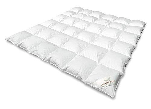 Klosterdorf Bettenmanufaktur Premium Winterdecke \'\'Typ Eiderdaune\'\' | 200x200 cm | 960 Gramm | WARM | Handarbeit aus Deutschland | Bettdecke | Für einen gesunden Schlaf