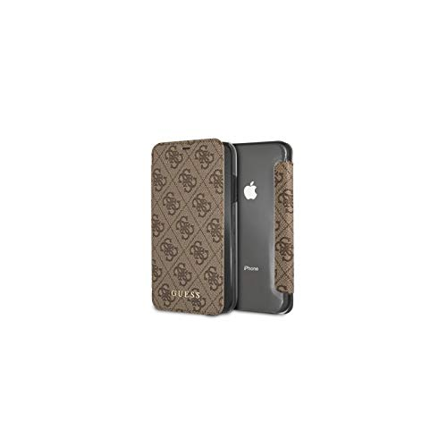 Guess GUFLBKI65GF4GBR Charms Book Case 4G Brown for iPhone