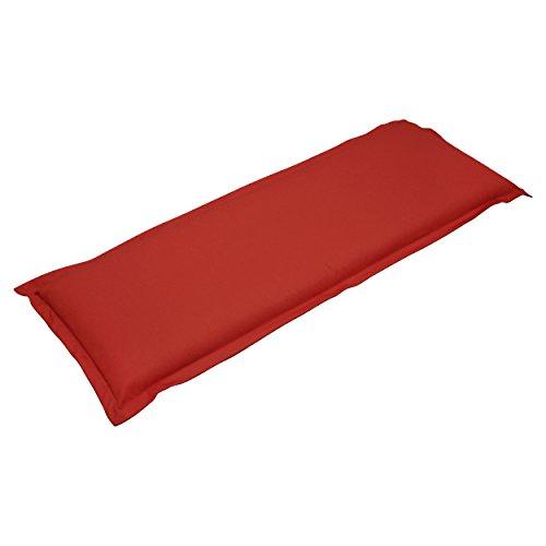 IND-70433-AUGB2 Bankauflage Premium, extra dicke Polsterauflage mit Reißverschluss, 120 x 45 x 9 cm, Rot