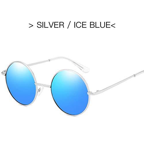 BHLTG Polarisierte sonnenbrille männer persönlichkeit mode metall runde rahmen prinz spiegel helle helle sonnenbrille frauen wild trend sonnencreme brille-2