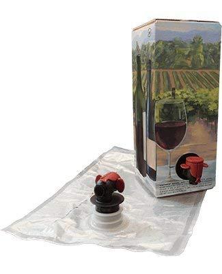 astropaq rot Wein Bag Kits [Umweltfreundlich Wein Flasche Alternative]-einfach Flasche & Store Ihre Weine-Ideal für Home Winzer & weingütern (3Stück 1,5l rot Wein Taschen und Boxen) -