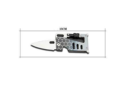 Innen- oder Außenkarabiner Edelstahl Multifunktions Karabiner für Outdoor und Schlüsselanhänger Ring (grau)