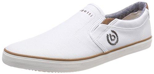 Bugatti Herren 321502646900 Slip On Sneaker Weiß (White) 44 EU