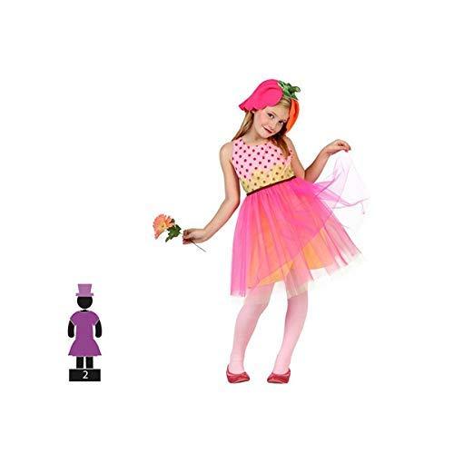 Teiliges Kinderkostüm für Karneval Mädchen Blume rosa Größe 5-6 Jahre Junge und Mädchen Cosplay Kinder Karneval ()