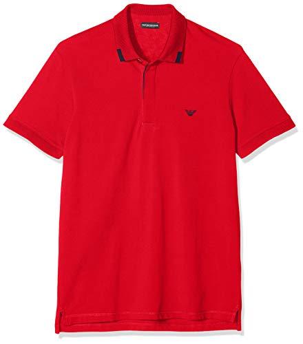 Emporio Armani Underwear Herren Mens Knit Polo S/SLE Badehose, Rot (Rosso 00074), X-Large (Herstellergröße:XL)