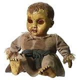 Verfluchte Puppe auf Schaukelpferd Animatronic als gruselige Halloween
