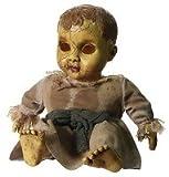 Halloween Horror Puppe Keramik Look Gänsehaut Schocker spricht und spielt schaurige Musik Bewegungsmelder und Drücktaster Party Schocker