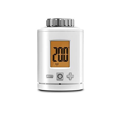 Gigaset Set-Ergänzung smart Thermostat (mit intelligenter App-Steuerung, intelligentes Heizungsthermostat spart bis zu 30{f4542a5832e8449cf16a9968cacd83a3d1f2a3b0d72d3f44453aa82e7d25caaf} der Heizkosten, mit kostenfreier App)