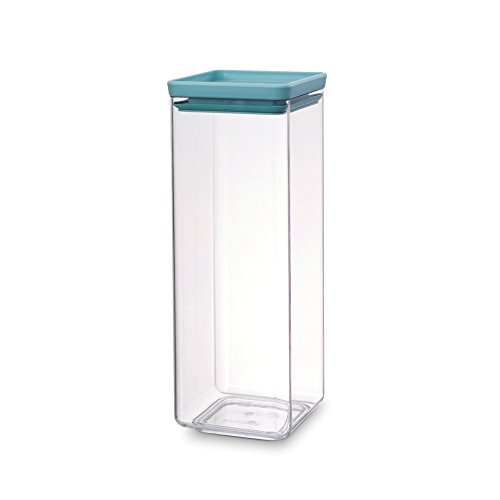 Brabantia Square Canister Barattolo, Tasty Colours Mint, 2.5 l