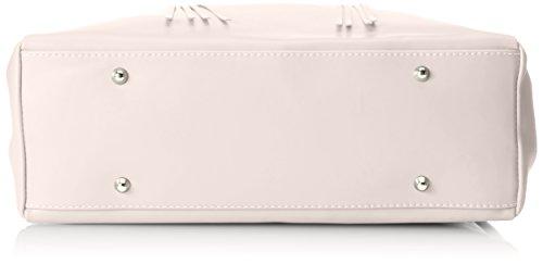 CTM Borsa elegante a mano da donna in vera pelle made in Italy 39x28x13 Cm Fango