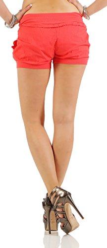 ... Mississhop Damen Hot Pants Sommer Chino Cargo Shorts Luftige Kurze Hose  Stretch Hotpants Short mit Gummibund 04fb81e7d9