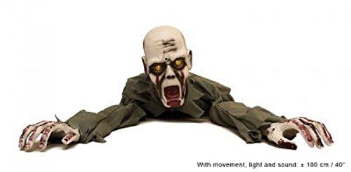 Kriechender Zombie Animiert Halloween Deko 100 cm - Horror Grusel Leiche Dekoration