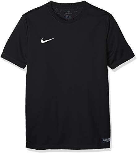 Nike park vi jersey ss youth, sport shirt bambino, nero (black/white 010), x-large
