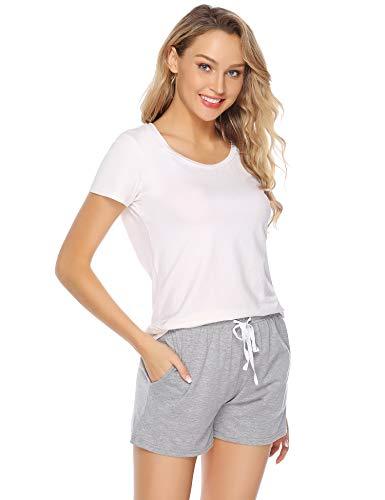 Aiboria Pantaloni da Pigiama Donna Pigiama Pantaloni da Notte Donna in Cotone Donna Pantaloni Sportivi per Casa Casual