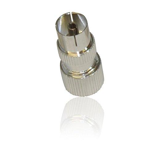 Weiblich Koax/Coaxil TV Antennen-Anschluss-Stecker für RF-Kabel/Freeview-Metall (Ariel-anschluss Tv)