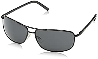 Aviator Sunglasses With Black Frame And Grey Smoky Lens (AVGSR373TZ)