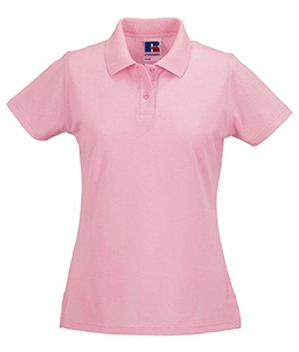 Z569F polo classic polo en coton pour femme Rose - Rose bonbon