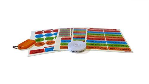 146 Etiquetas para marcar ropa y objetos (Pack) Multicolor