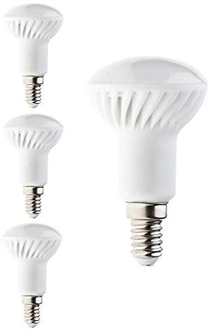 PanderLights 4er Pack SET E14 LED R50 Lampe 5W 450lm (Ersetzt ca. 40W) Warmweiß - SMD LED Leuchtmittel - 120°