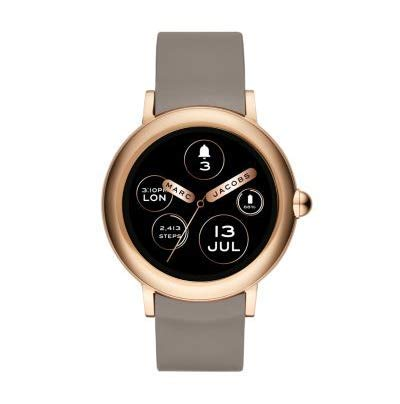 Marc Jacobs Connected Ladies Riley Grey Silicone Smartwatch MJT2001